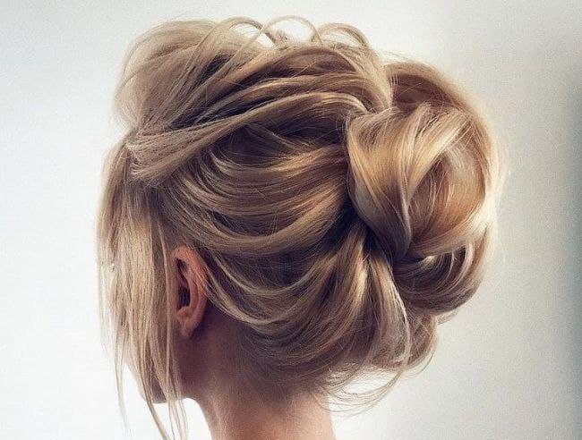 شینیون مناسب موهای کم پشت و نازک